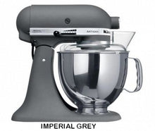 Load image into Gallery viewer, Kitchenaid Ksm150 5 Qt. 4.7 Liters Artisan Stand Mixer 220 Volts Export Only Imperial Grey