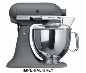 Kitchenaid Ksm150 5 Qt. 4.7 Liters Artisan Stand Mixer 220 Volts Export Only Imperial Grey