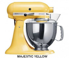 Load image into Gallery viewer, Kitchenaid Ksm150 5 Qt. 4.7 Liters Artisan Stand Mixer 220 Volts Export Only Majestic Yellow