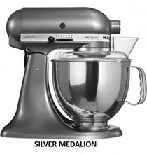 Load image into Gallery viewer, Kitchenaid Ksm150 5 Qt. 4.7 Liters Artisan Stand Mixer 220 Volts Export Only Medallion Silver