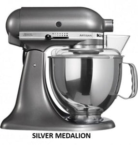 Kitchenaid Ksm150 5 Qt. 4.7 Liters Artisan Stand Mixer 220 Volts Export Only Medallion Silver