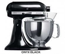 Load image into Gallery viewer, Kitchenaid Ksm150 5 Qt. 4.7 Liters Artisan Stand Mixer 220 Volts Export Only Onyx Black