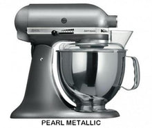 Load image into Gallery viewer, Kitchenaid Ksm150 5 Qt. 4.7 Liters Artisan Stand Mixer 220 Volts Export Only Pearl Mettalic