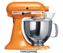 Load image into Gallery viewer, Kitchenaid Ksm150 5 Qt. 4.7 Liters Artisan Stand Mixer 220 Volts Export Only Tangerine