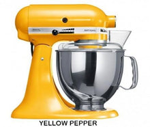 Load image into Gallery viewer, Kitchenaid Ksm150 5 Qt. 4.7 Liters Artisan Stand Mixer 220 Volts Export Only Yellow Pepper