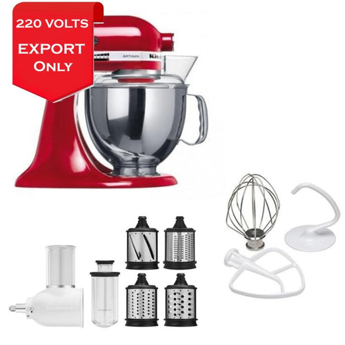 Kitchenaid Ksm150Fbeer 5 Qt. Stand Mixer With Slicer/shredder 220 Volts Export Only
