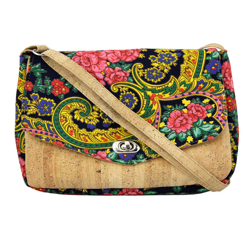 Handmade Vians's Scarf With Cork Crossbody Purse