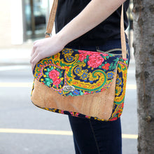 Load image into Gallery viewer, Handmade Crossbody Purse Viana Scarf With Cork