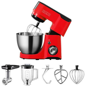 Midea Bm2096 Kitchen Machine Stand Mixer Blender & Meat Grinder 220 Volts Export Only Red Combo