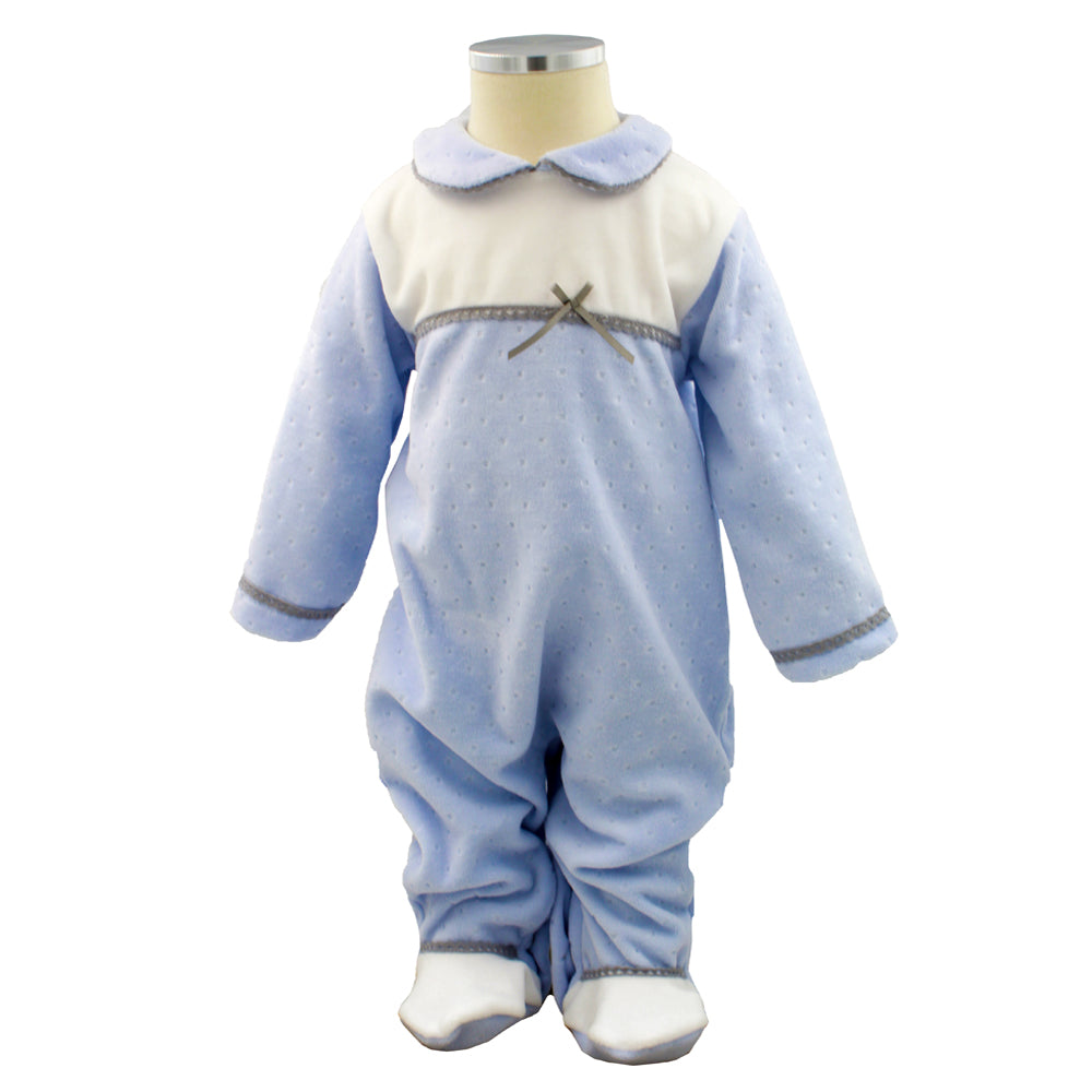 Pim-Pam-Pum Blue Babygrow Footed Sleep and Play 3-6 Months
