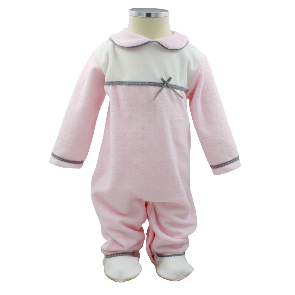 Pim-Pam-Pum Pink Babygrow Footed Sleep and Play 3-6 Months