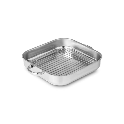 Silampos Stainless Steel Bakeware Roaster With Rack - 2 Sizes