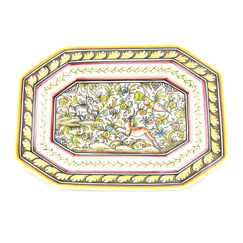 Coimbra Ceramics Hand-painted Decorative Platter XVII Century Recreation #104/2