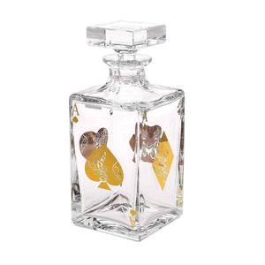Vista Alegre Crystal Poker Whisky Decanter