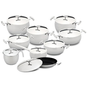 Silampos Yumi 18 Pieces Stainless Steel Cookware Set Made In Portugal