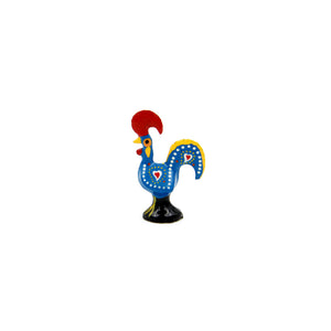 "1.5"" Traditional Portuguese Aluminum Decorative Good Luck Barcelos Rooster - Set of 6"