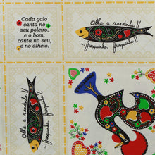 Load image into Gallery viewer, Limol 100% Cotton Sardines & Roosters Tablecloth Made in Portugal - Various Sizes
