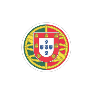 Round Portuguese Flag Vinyl Die Cut Sticker