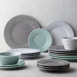 Bordallo Pinheiro Rua Nova Dinner Plate 28 Green - Set of 4
