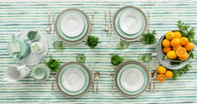 Load image into Gallery viewer, Bordallo Pinheiro Rua Nova Dessert Plate 22 Green - Set of 4