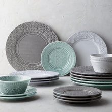 Load image into Gallery viewer, Bordallo Pinheiro Rua Nova 16 Pieces Dinnerware Set - Anthracite