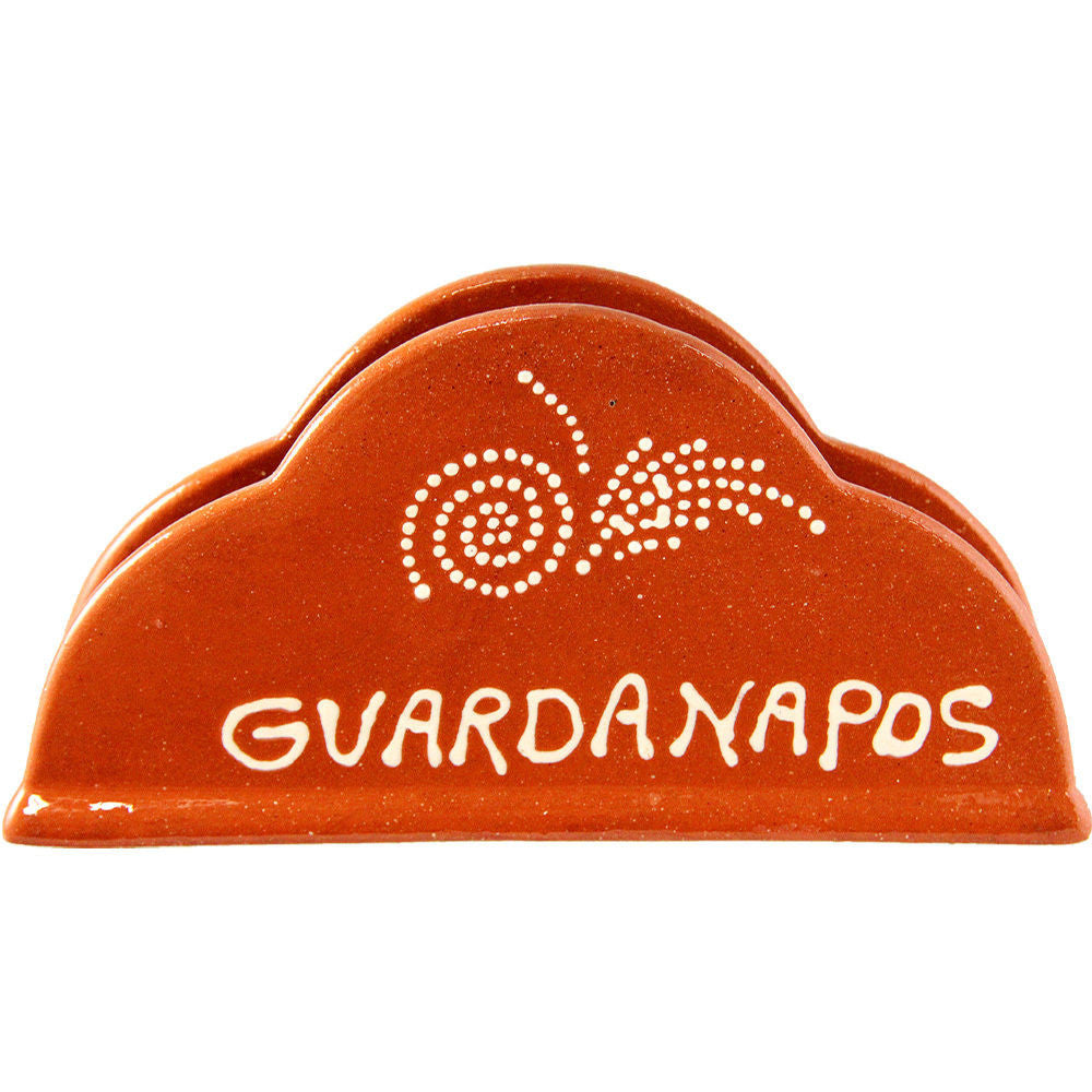 Portuguese Traditional Clay Terracotta Napkin Holder Made In Portugal