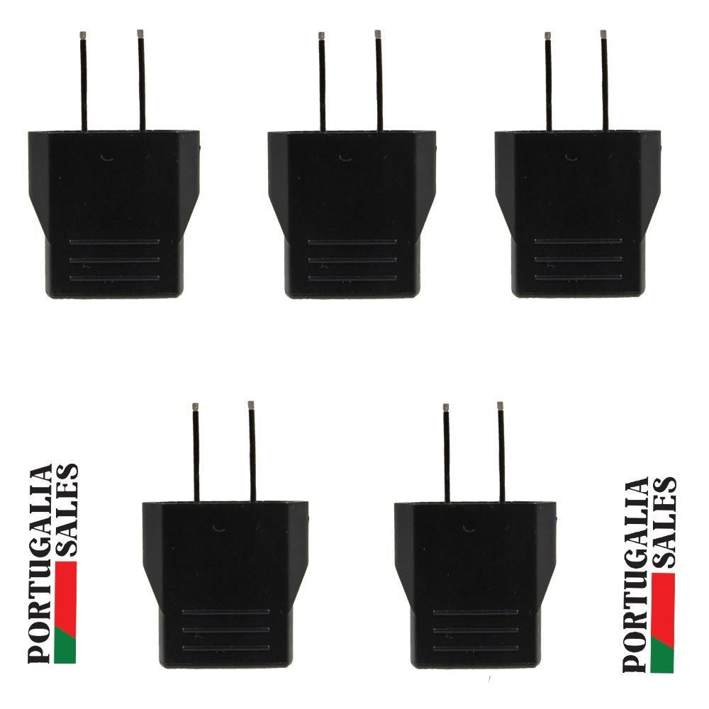5 X Euro EU to US USA Type A Travel Power Adapter Converter Wall Plug