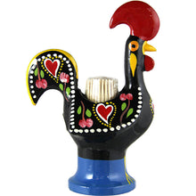 Load image into Gallery viewer, Hand Painted Traditional Portuguese Aluminum Toothpick Holder Good Luck Rooster