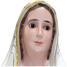 "Load image into Gallery viewer, 44"" Our Lady Of Fatima Statue Virgin Mary Religious Statue 1038 Made in Portugal"