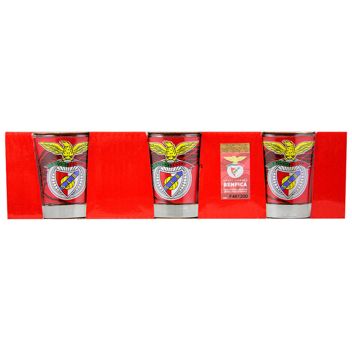 SL Benfica Set of 3 Shot Glasses Officially Licensed Product Ref BEN0859