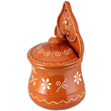 Load image into Gallery viewer, Traditional Portuguese Hand Painted Vintage Clay Terracotta Salt Holder