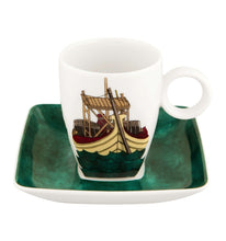 Load image into Gallery viewer, Vista Alegre Soul of Porto Set of Four Coffee Cups and Saucers