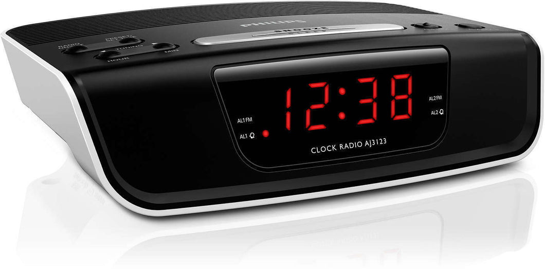 Philips NEW Dual Voltage Alarm Clock Radio for Worldwide Use 110/220 Volts
