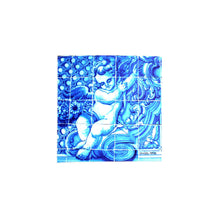 Load image into Gallery viewer, Set of Hand Fan Eyeglass Case With Cleaning Cloth 18th Century Angel Tile Themed