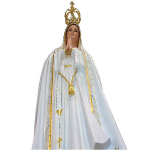 "44"" Our Lady Of Fatima Statue Virgin Mary Religious Statue 1038 Made in Portugal"