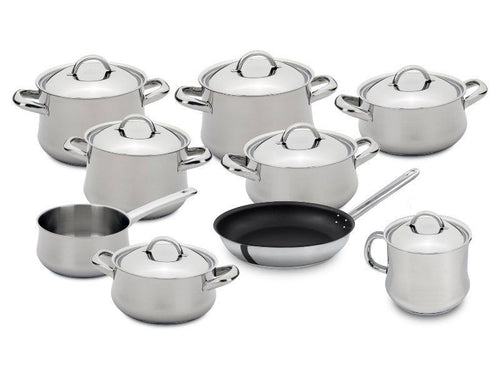 Silampos Low Cost 17 Pieces Stainless Steel Cookware Set Made In Portugal