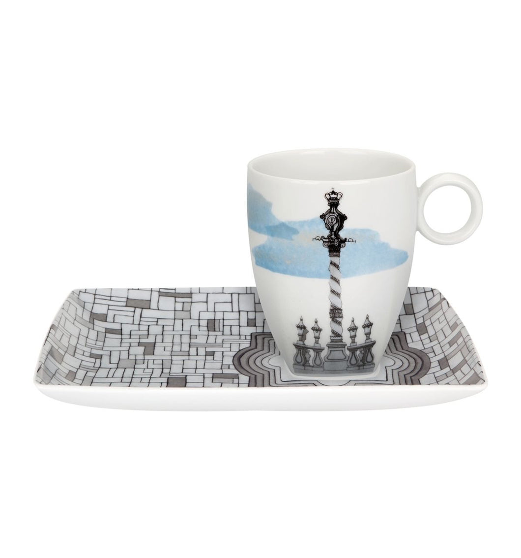 Vista Alegre Soul of Porto Tray and Mug