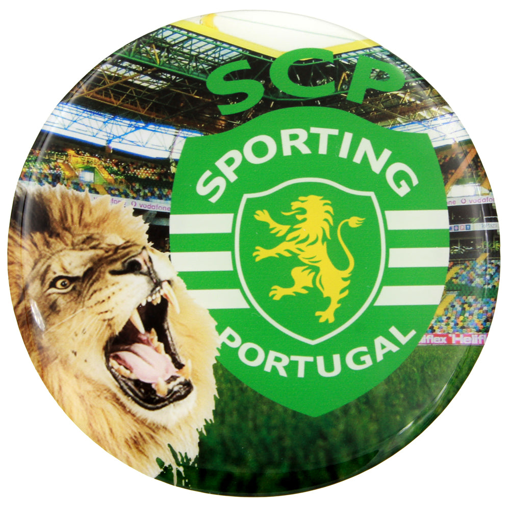 4 Inch Large Round Sporting CP Resin Domed 3D Decal Car Sticker