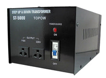 Load image into Gallery viewer, 5000W Watt 110 to 220 Electrical Power Voltage Converter Transformer 220 to 100