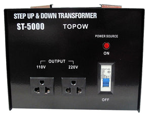 5000W Watt 110 to 220 Electrical Power Voltage Converter Transformer 220 to 100
