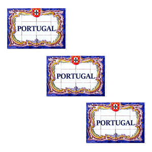 Traditional Portuguese Tiles Vinyl Sticker - Set of 3