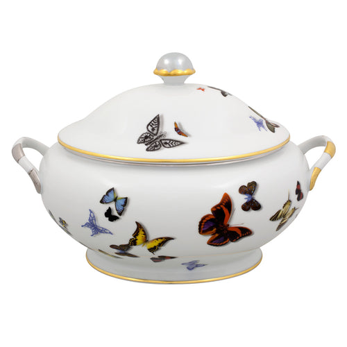 Vista Alegre Porcelain Butterfly Parade Tureen By Christian Lacroix - SPECIAL ORDER