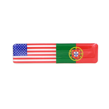 Load image into Gallery viewer, American and Portuguese Flag Resin Domed 3D Decal Car Sticker - Set of 3