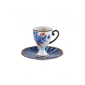 Vista Alegre Porcelain Cannaregio Set of 4 Espresso Cups and Saucers