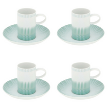 Load image into Gallery viewer, Vista Alegre Venezia Porcelain Coffee Cup & Saucer Set of 4