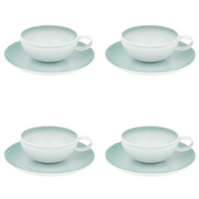 Load image into Gallery viewer, Vista Alegre Venezia Porcelain Tea Cup & Saucer Set of 4