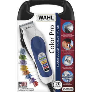 Wahl 79400 Color Pro Coded Mains Hair Clipper 20-Piece Kit 220-240 Volts 50/60Hz Export Only Trimmer