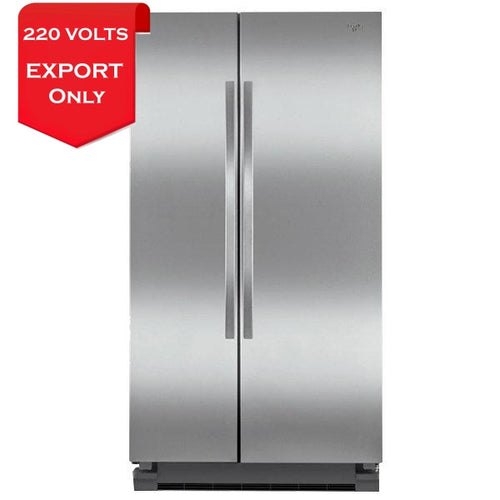 Whirlpool 5Wrs25Knfg 26 Cu. Ft. Side-By-Side Refrigerator 220 Volts 50/60Hz Export Only