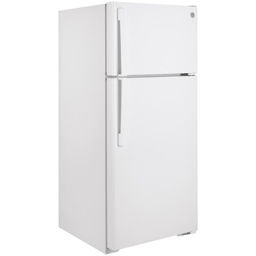 GE® GTS17DTNRWW 16.6 Cu. Ft. Top-Freezer Refrigerator- 110 Volts