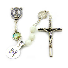 White Glass Beads Our Lady of Fatima Rosary